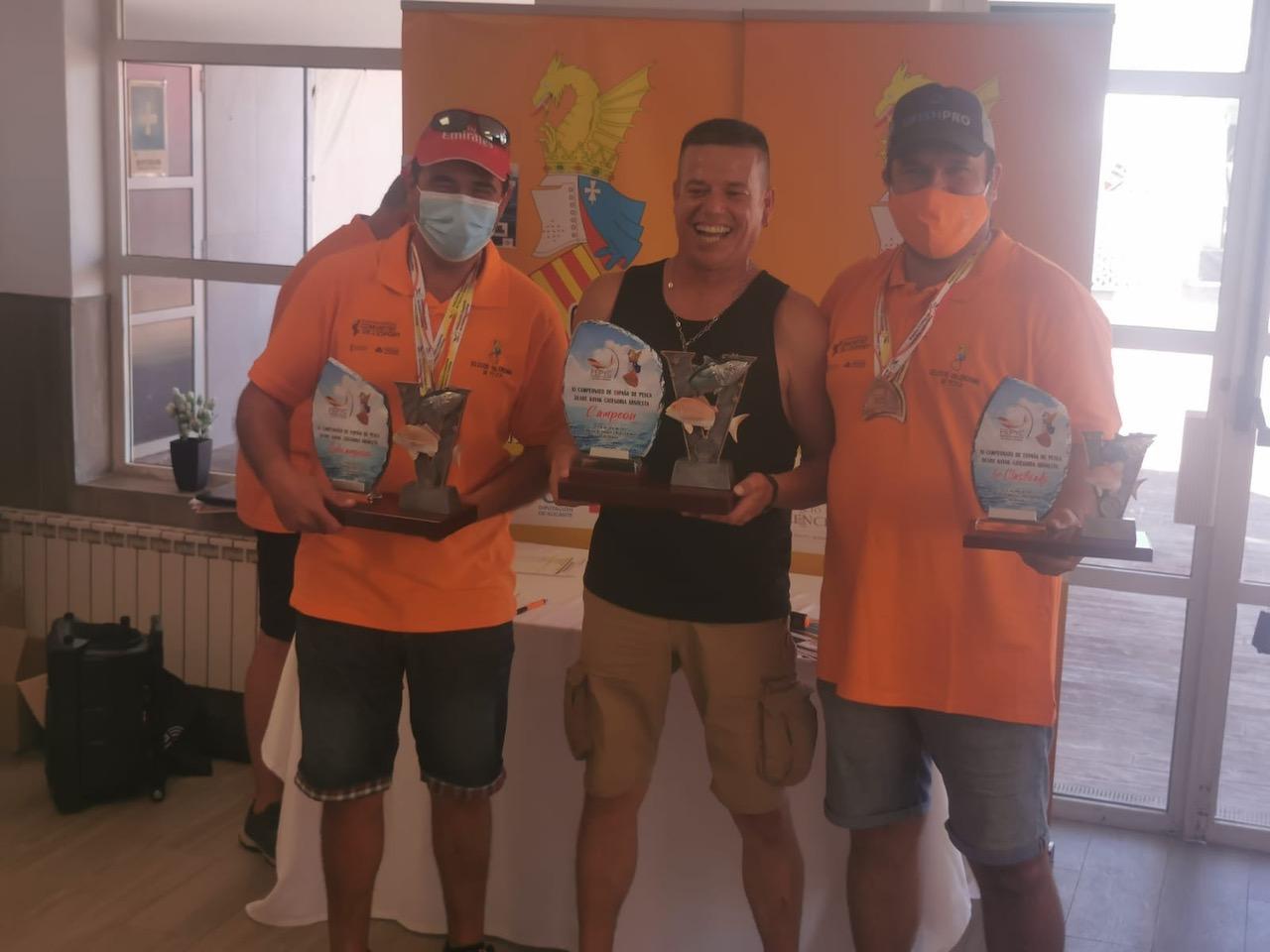 Juan José González campeón de España de Pesca en Kayak en Valencia